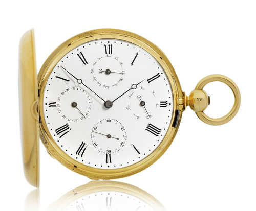 Rare Pocket Watch with calendar, ca. 1860.