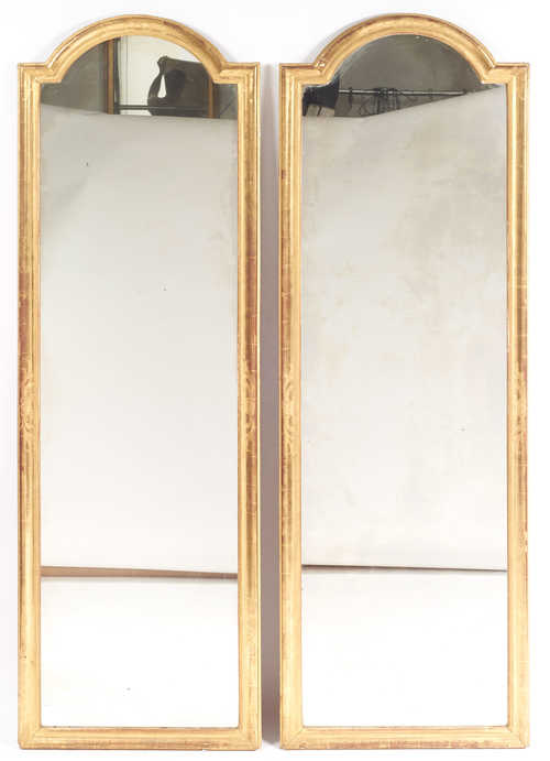 PAIR OF TRUMEAU MIRRORS,