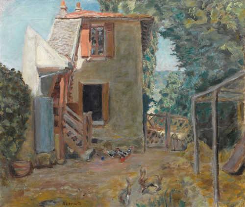 PIERRE BONNARD. Maison de la Mère du Peintre Roussel à L\'Éta