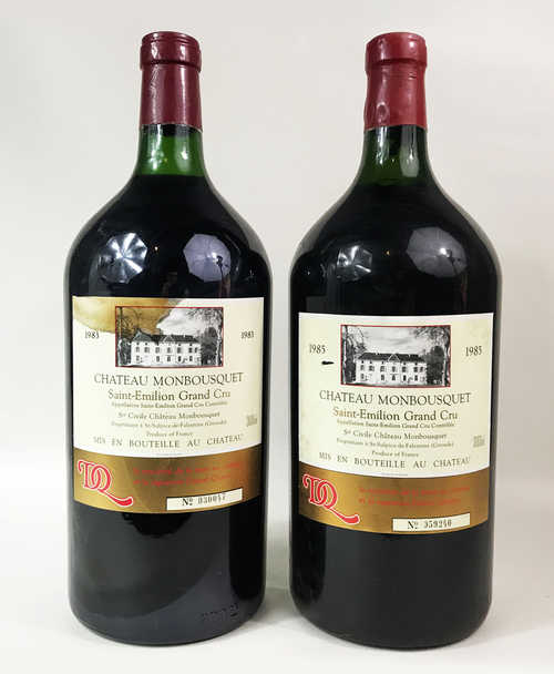 1 double-mg Saint-Emilion Ch. Monbousquet Grand Cru Classé 1983; 1 double-mg Saint-Emilion Ch. Monbousquet Grand Cru Classé 1985