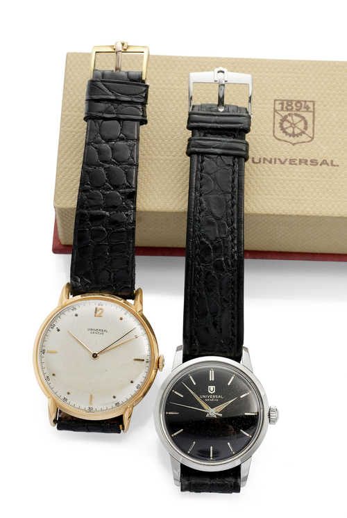 Two Universal Gentleman's Watches, 1960s.