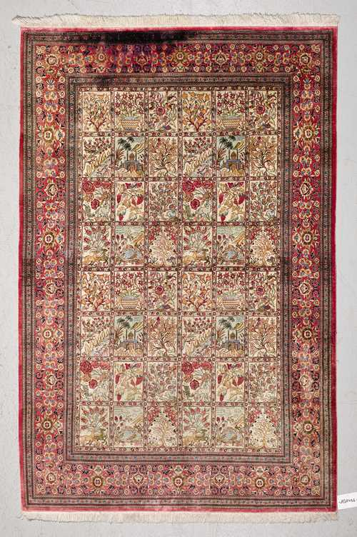 GHOM SILK, GARDEN CARPET.