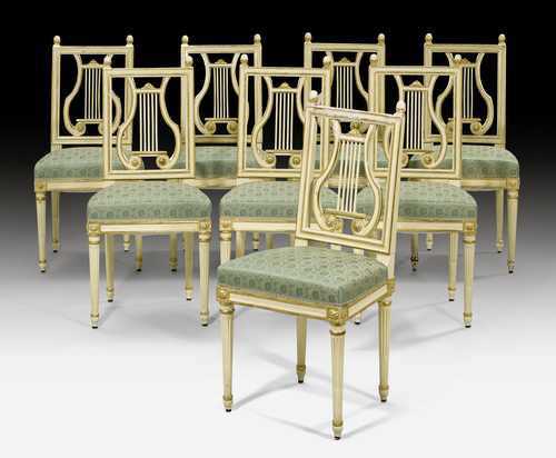 SET OF 8 CHAIRS,