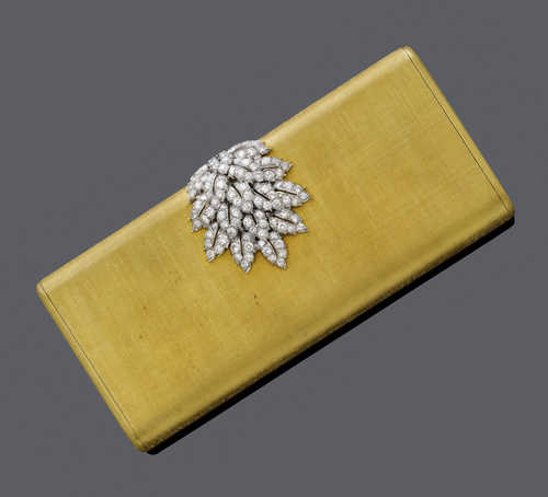 GOLD AND DIAMOND MINAUDIERE, by BUCCELLATI, ca. 1960.