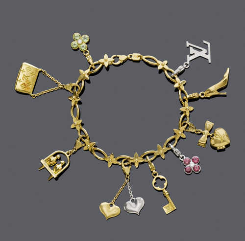 CHARM GOLD BRACELET, by LOUIS VUITTON.