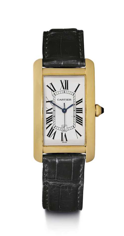 Limited edition Cartier Tank Americaine, Automatic, 2002.