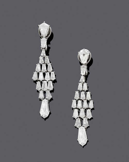 DIAMOND EAR PENDANTS, by CHOPARD, HIGH JEWELLERY.
