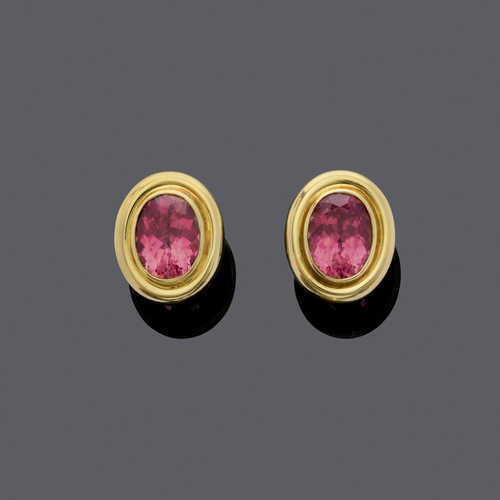 TOURMALINE AND GOLD EARRINGS, by PALOMA PICASSO for TIFFANY & Co.