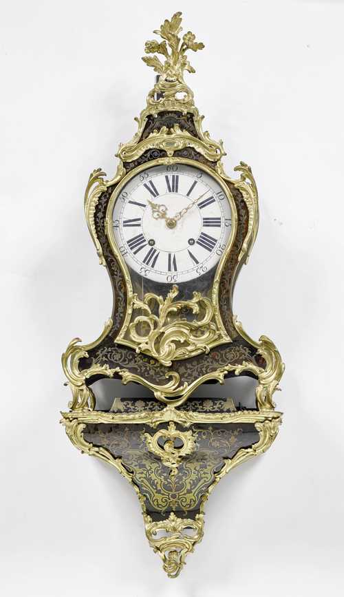 BOULLE PENDULUM CLOCK ON BASE,