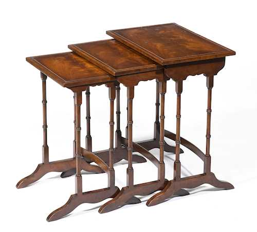SET OF THREE TABLES,