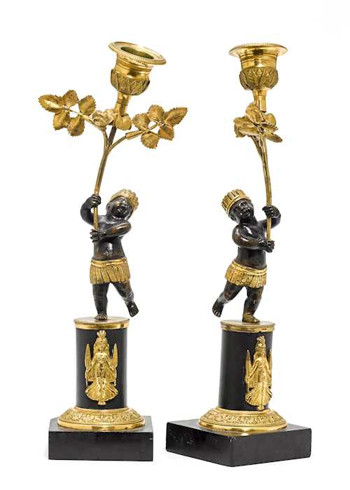 PAIR OF SMALL CANDLESTICKS,