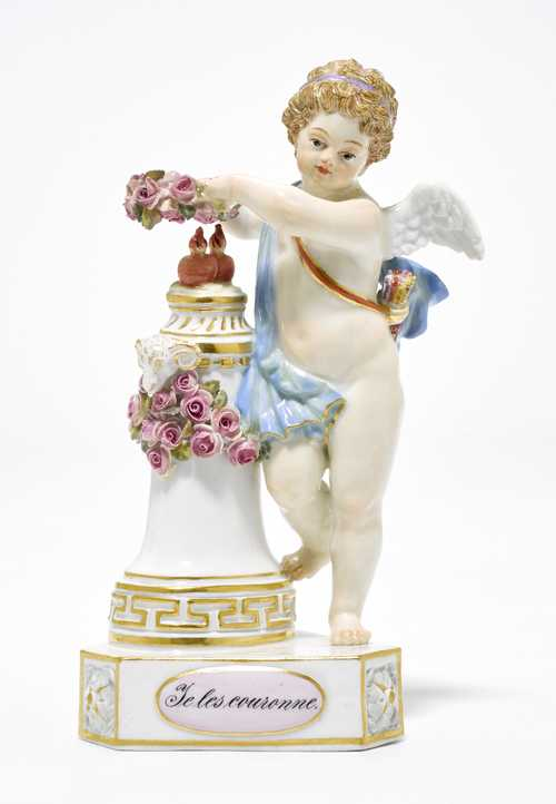 "A CUPID WITH TWO HEARTS ""JE LES COURONNE"","