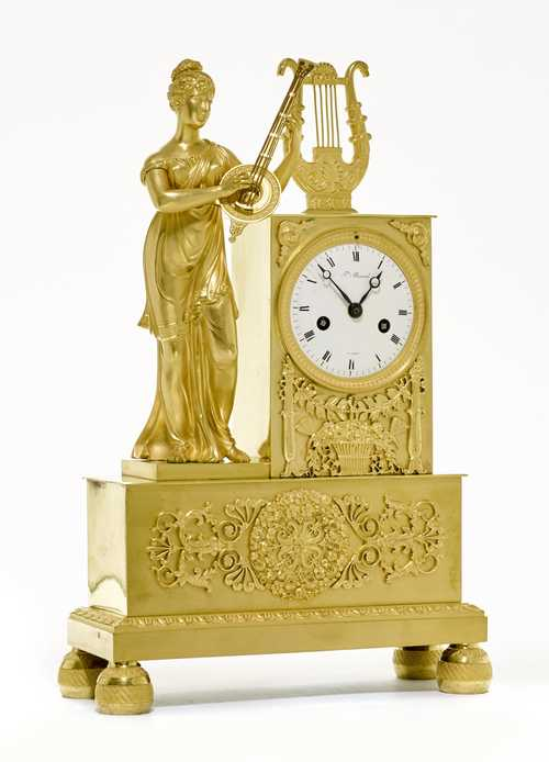 "MANTEL CLOCK ""ALLEGORY OF MUSIC"","