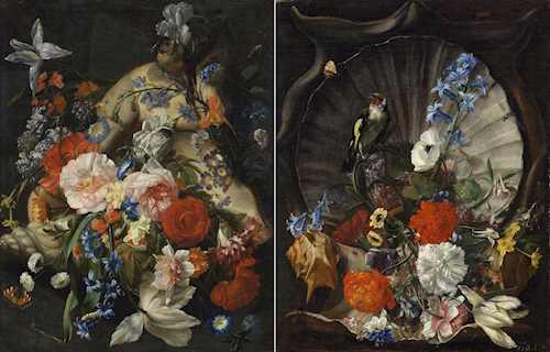 Original Gemälde Orient Frau Fächer Ölgemälde mit Rahmen Ölbild Antik-Stil 38cm