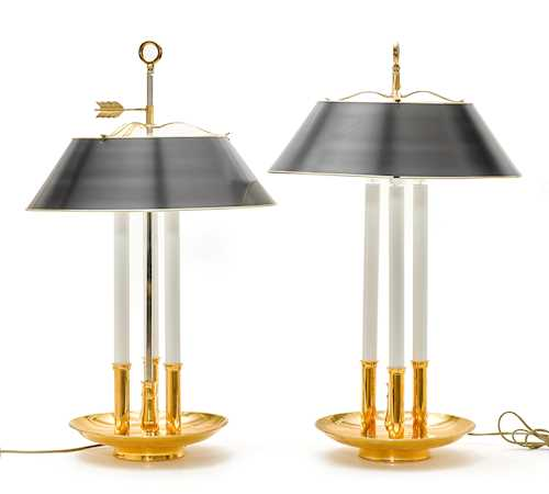 PAIR OF BOUILLOTTE LAMPS,