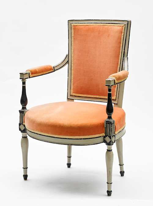 PAINTED FAUTEUIL,