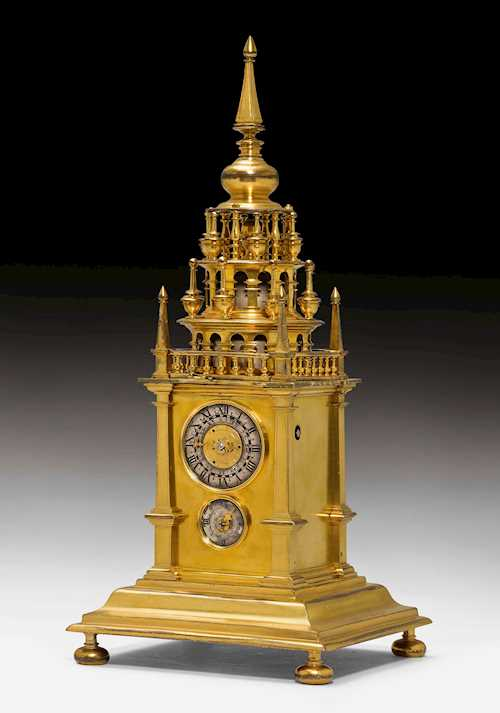 CLOCK DESIGNED AS A TOWER,