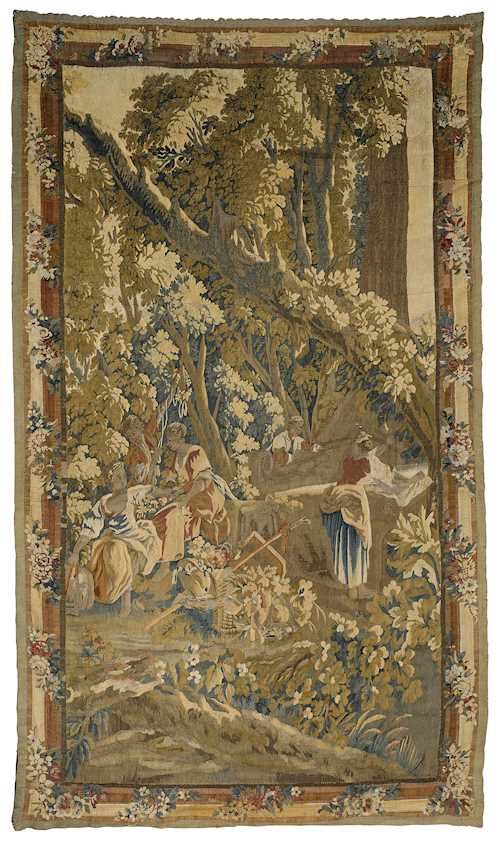 FRAGMENT OF A TAPESTRY DEPICTING A LANDSCAPE