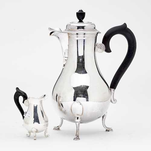 COFFEE POT AND CREAM JUG