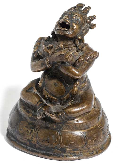 A BRONZE FIGURE OF VAJRADAKA.