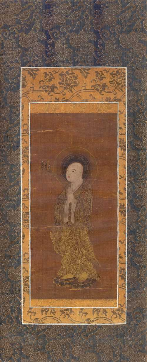 TWO PORTRAITS OF ZENDO DAISHI AND A DEPICTION OF SENJU-KANNON.