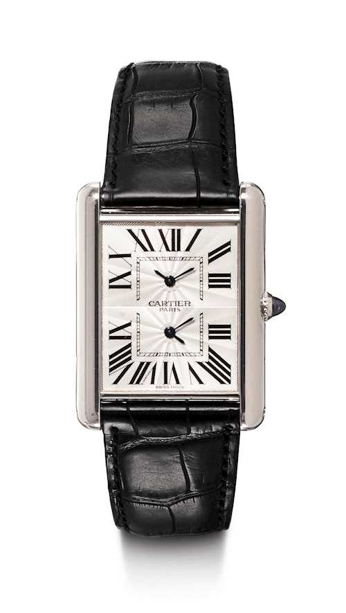"Cartier. Rare, large ""Collection Privée"", featuring 2 time zones, 2009."