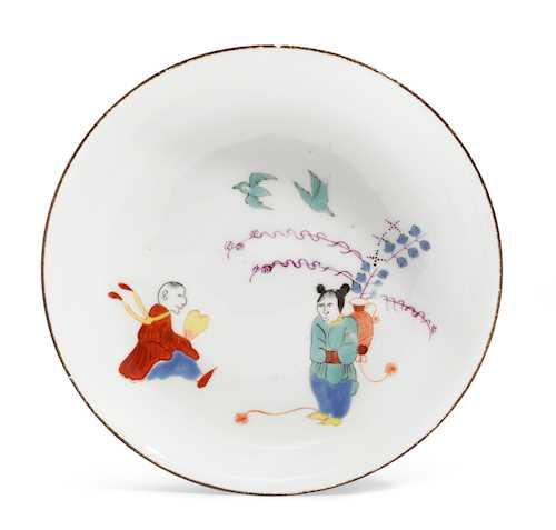 SAUCER WITH RARE KAKIEMON DECORATION