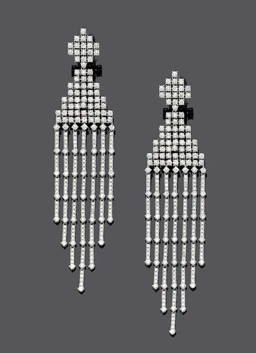 DIAMOND EAR PENDANTS.