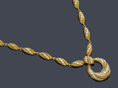 GOLD-BRILLANT-COLLIER, CARTIER, Paris, um 1950.
