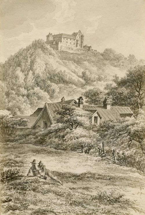 SWITZERLAND.-Matthias Pfenninger (1739 Zürich 1813): Lot of 5 drawings with views of Switzerland. Pen and brush in black and brown, and some black crayon. Each ca. 13.5 x 21.5 cm. Including: 1. Bei Weesen. 2. Altenburg bei Brugg. 3. Ziegelbrücke bei der Kuhbrücke Selnau -Wiedikon 4. Lende bei Baden. 5. Schloss Sonnenberg bei Thurgau. Each attached to backing board and inscribed and entitled in pencil. Math. Pfenninger.