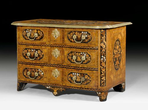 kommode a fleurs louis xiv r gence mit sog marqueterie. Black Bedroom Furniture Sets. Home Design Ideas