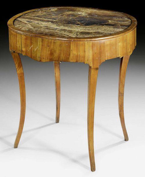 kleiner ovaler tisch restauration norditalien um 1830. Black Bedroom Furniture Sets. Home Design Ideas